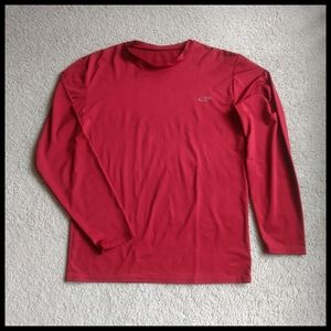 💕 Compression shirt, red, long sleeves, men